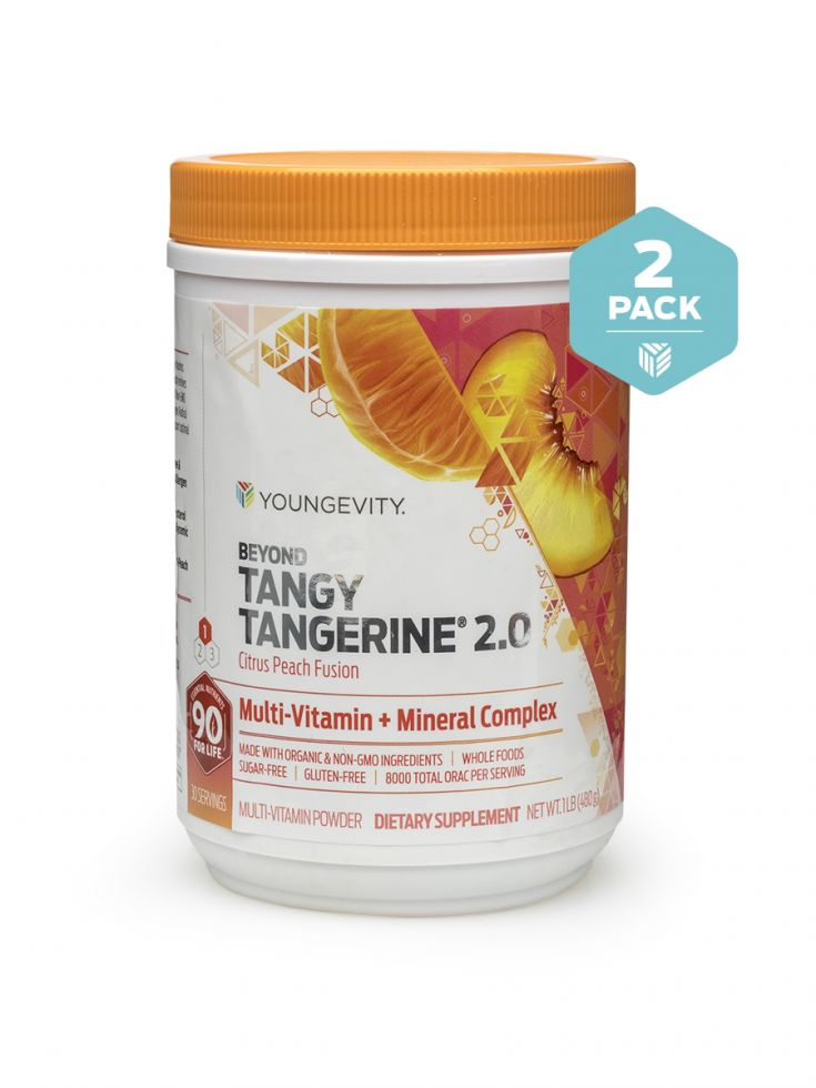 Btt 2.0 Citrus Peach Fusion 480g Canister Twin Pack